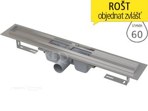 Žlab podlahový APZ1 pro perforovaný rošt 550 mm, boční odtok 50 mm