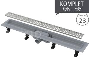 Žlab podlahový APZ10 Simple plastový s nerezovým roštem