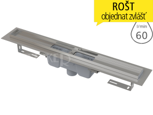 Žlab podlahový APZ1001 pro perforovaný rošt 300 mm, spodní odtok 50 mm
