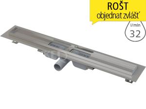Žlab podlahový APZ101 LOW pro perforovaný rošt 300 mm, boční odtok 40 mm