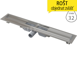 Žlab podlahový APZ101 LOW pro perforovaný rošt 850 mm, boční odtok 40 mm