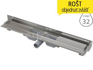Žlab podlahový APZ104 Flexible LOW pro perforovaný rošt 850 mm, boční odtok 40 mm