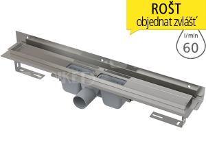 Žlab podlahový APZ4 Flexible pro perforovaný rošt 750 mm, boční odtok 50 mm