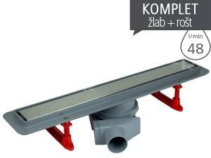 Žlab podlahový Primo Line s nerezovým roštem 450 mm