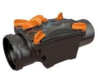 Zpětná klapka dvouklapková Ottima 125 mm s aretací, 12R1248, Nicoll