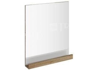 Zrcadlo 10° s poličkou 55 cm tmavý ořech