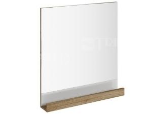Zrcadlo 10° s poličkou 65 cm tmavý ořech