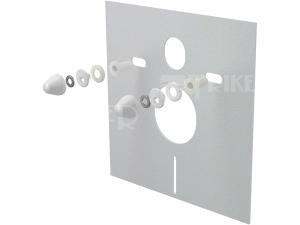 Zvuková izolace pro závěsné WC Alca Plast obdelníková krytky bílé