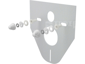 Zvuková izolace pro závěsné WC s krytkami, bílá