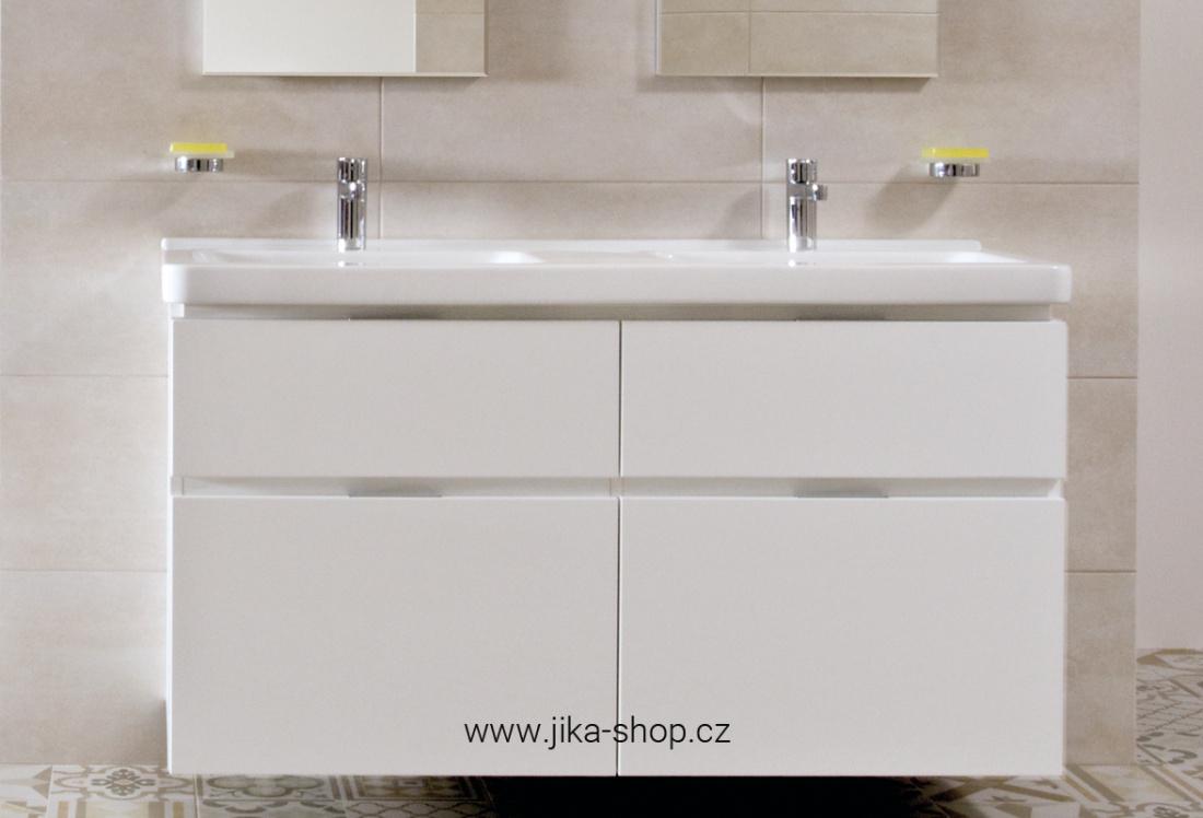cubito dvojumyvadlo 130 x 48 5 cm s otvorem pro baterii b l jika. Black Bedroom Furniture Sets. Home Design Ideas