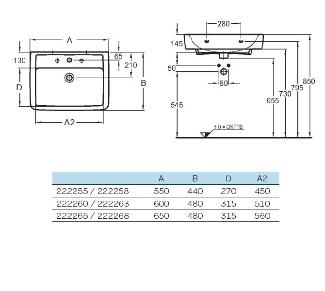 renova nr 1 plan umyvadlo 60 x 48 cm s otvorem pro baterii. Black Bedroom Furniture Sets. Home Design Ideas