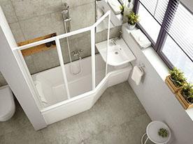 Sprchový kout nebo vana? Co takhle obojí!